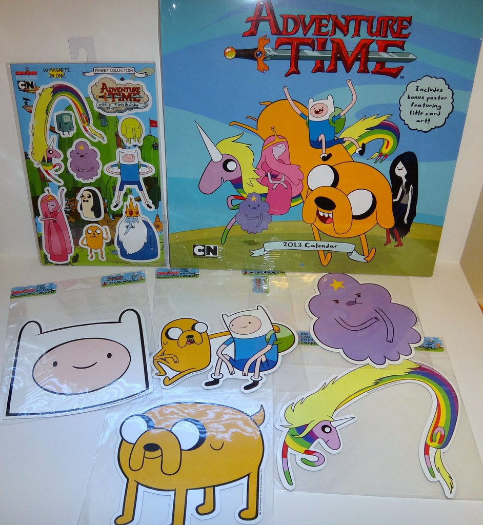 Adventure Time calendar magnets