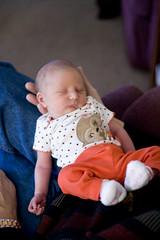 Emma napping