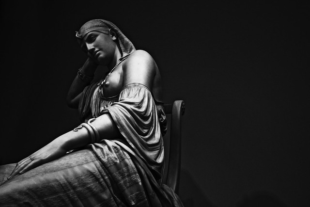 "William Wetmore Story's marble ""Cleopatra"", 1878"