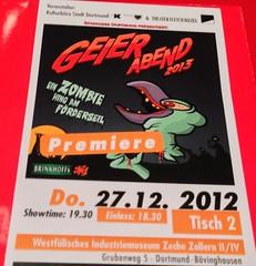 Geierabend 2013 Premiere: Ein Zombie hing am Förderseil
