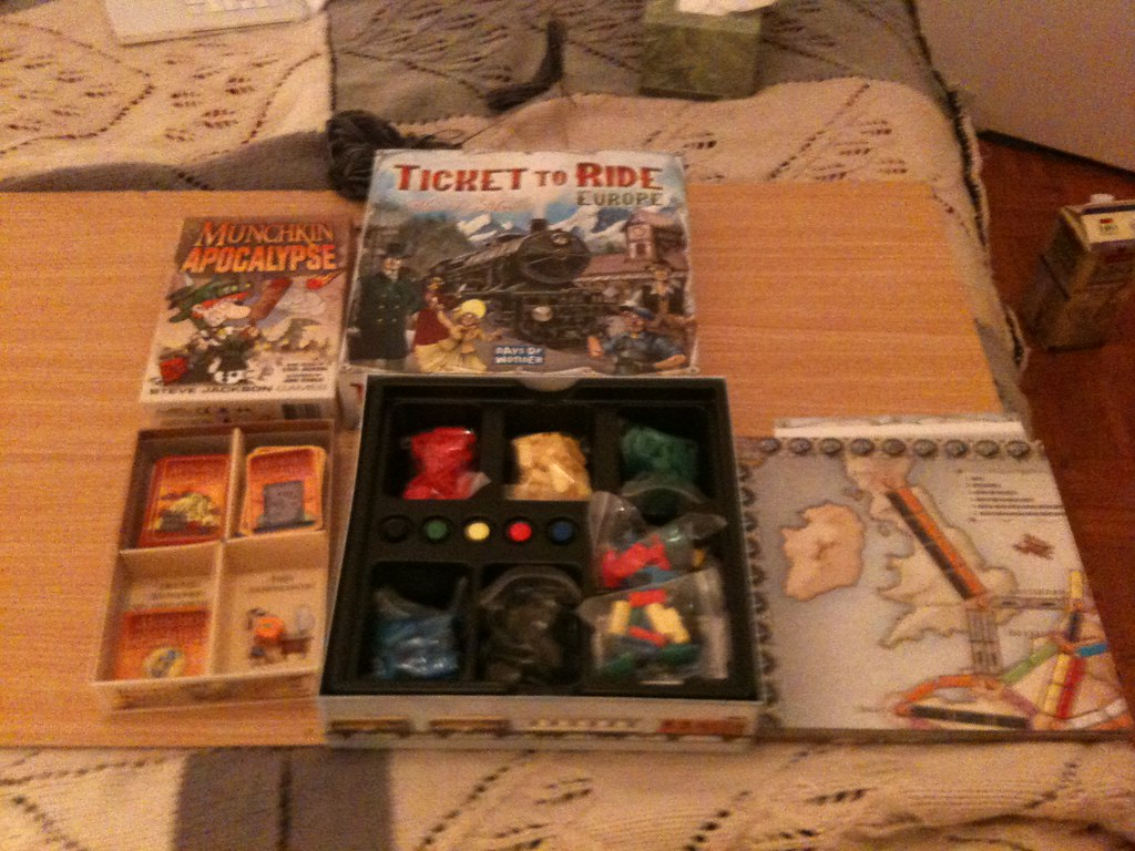 Munchkin & Ticket to Ride