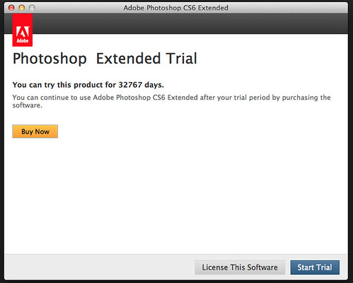 Trial message appears after 6 months! | Photoshop Support Group | Flickr