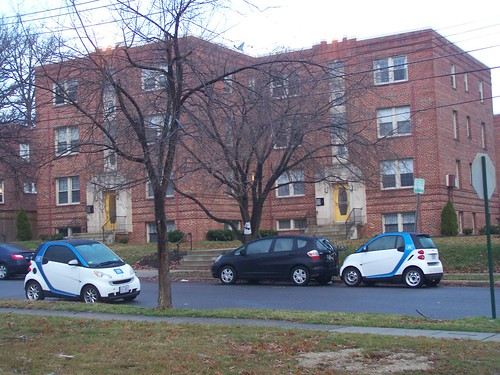 Car2Go vehicles on Whittier Street NW