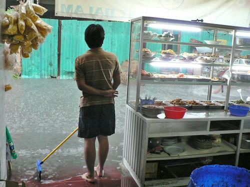 Indonésie Java Jakarta-centre Inondation Kampung Kebon Sirih