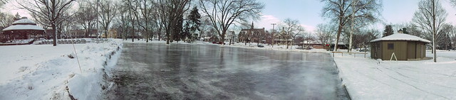 Outdoor skating rink - Panorama photo