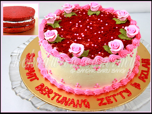 Red Velvet Cake For Hantaran