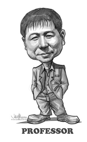 professor digital caricature sketch