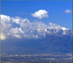 Mt. Baldy from Redlands, CA 12-27-12b