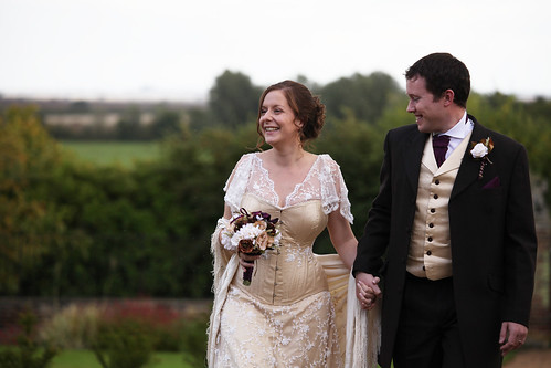 Moody Marriage - The Happy Couple in their homemade bridal attire