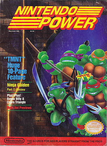 "NINTENDO POWER ::  MAY/JUNE 1989 // Vx p.50 "" TEENAGE MUTANT NINJA TURTLES "" { original review }"