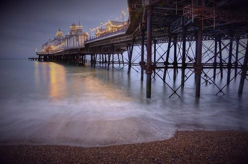 longexposure england seascape coast pier eastbourne