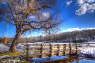 HDR winter scene