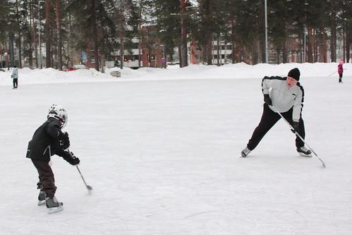 Iiro Playing Hockey