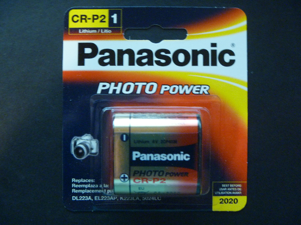 panasonic cr p2 lithium photo camera battery 6v 223 ebay. Black Bedroom Furniture Sets. Home Design Ideas
