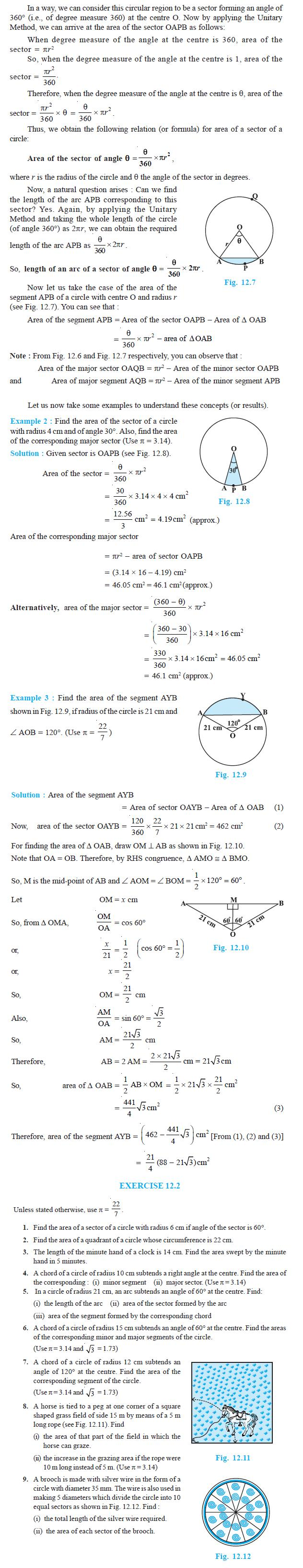 NCERT Class X Maths: Chapter 12 - Areas Related to Circles