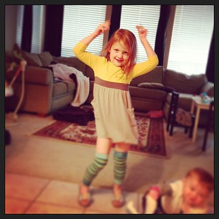 Your daily dose of #sawyergrace and her dressing herself #ilivewithkesha #sillygirl #danceparties