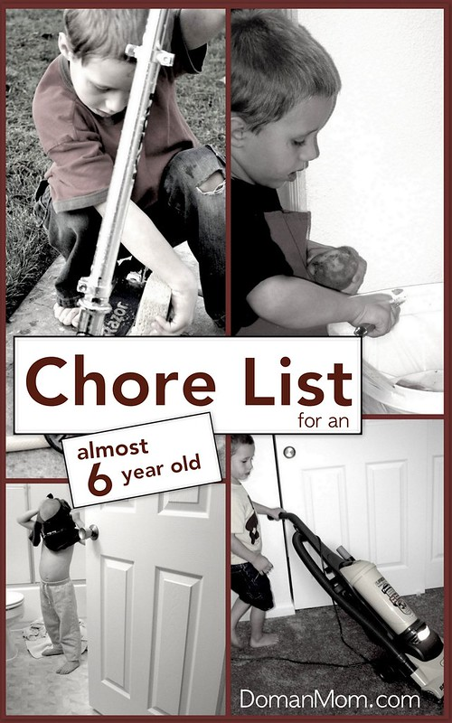 Chore List for an Almost 6 Year Old