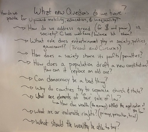 Initial Questions about the American Revolution