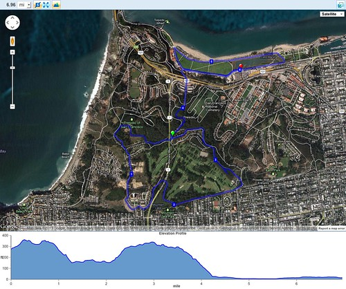 Kaiser training run in the Presidio