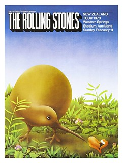 Rolling Stones 1973 Western Springs Gig Poster