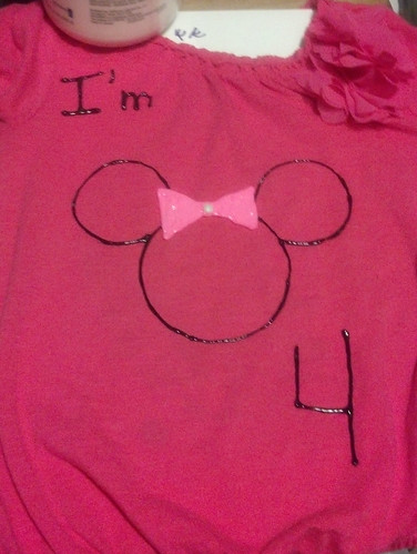Finished 4th birthday shirt for Lil
