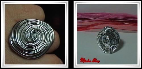 Anillo Aluminio Silver Disco Grande