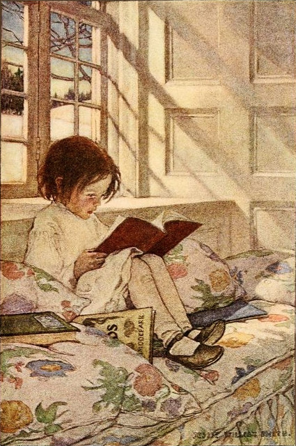 Jessie Willcox Smith 'Picture-Books in Winter' (1905) from ...