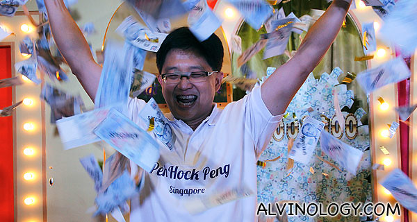 The third Changi Millionaire, fellow Singaporean, Peh Hock Peng