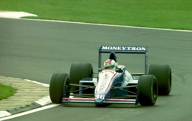 Stefan Johansson - Moneytron Onyx Formula One Team - Onyx ORE-1  during practice for the  1989 British  Grand Prix at Silverstone