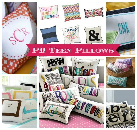 PB Teen Throw Pillows