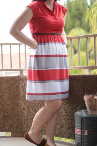 red striped vintage dress.