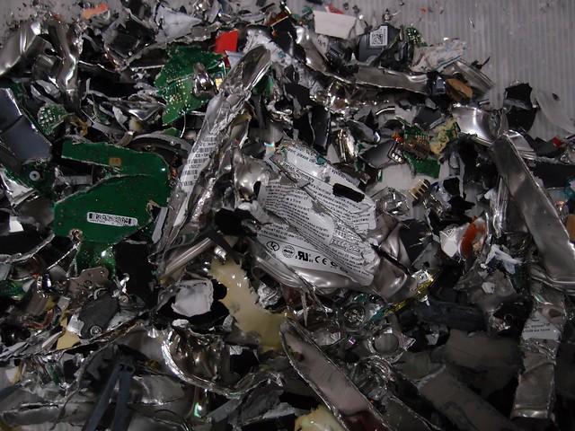 shredded magnetic hard disk drives
