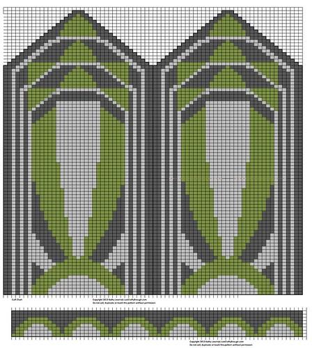 Art Deco Mitten Design