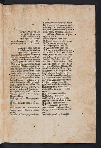 Variant reading in Boccaccio, Giovanni: Genealogiae deorum