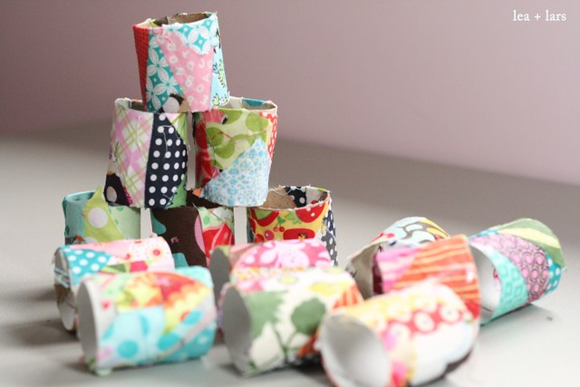 fabric covered toilet paper rolls