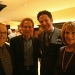Vin Scelsa, Dennis Elsas, John Pizzarelli and Nancy Elsas. January 20, 2013: A night of music, food and wine to benefit WFUV Public Radio.