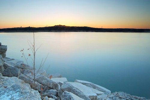 park longexposure blue sunset usa sun lake nature water stone america austin evening us nikon rocks texas unitedstates state tx lee coloradoriver filters hillcountry laketravis d700 uploaded:by=flickrmobile flickriosapp:filter=nofilter
