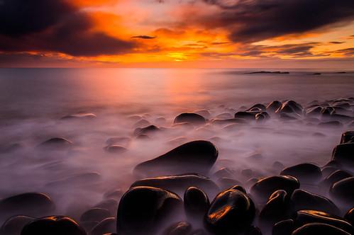 [フリー画像素材] 自然風景, 朝焼け・夕焼け, ビーチ・海岸, 風景 - イギリス ID:201302062000