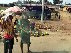Girls roadside hawking plantain chips and bitter kolas, Igbara Oke, Ondo, Nigeria. #JujuFilms