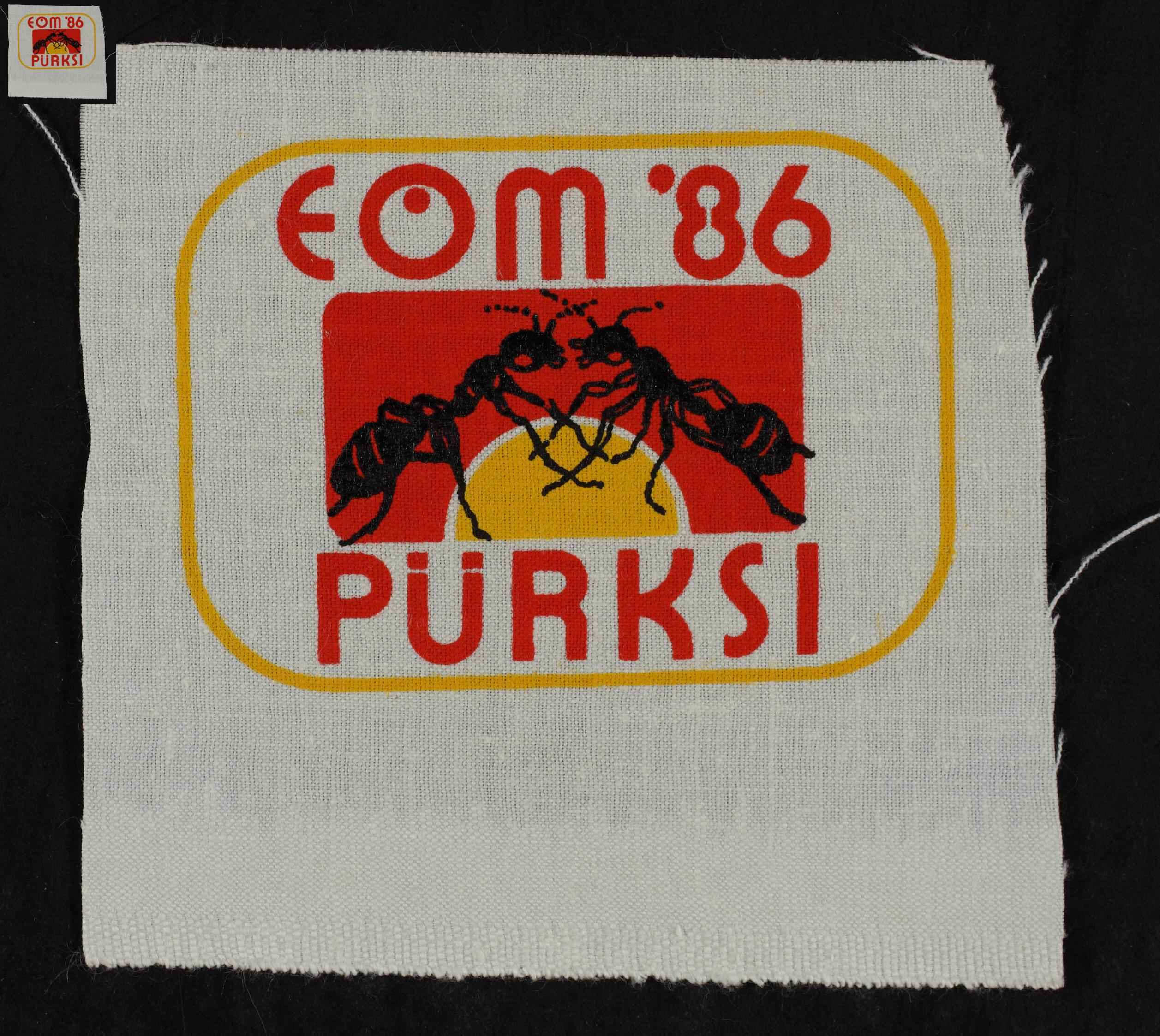 Maleva embleem, Pürksi 1986 / Secondary School Students' Building Brigade emblem, Pürksi 1986