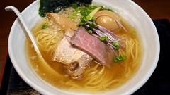 鶏煮干塩SOBA+味玉@篝(川崎)