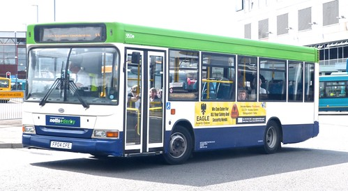 FP04 CFE 'notts+derby' 950 Transbus Dart / Plaxton Mini Pointer Dart on 'Dennis Basford's railsroadsrunways.blogspot.co.uk'