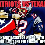 On top of our usual Thursday Night @gansettbeer & @aquidneck_farms Burger Night (10$ for both) we will be offering complimentary wings for the @patriots vs @houstontexans game (while supplies last)! So get here early! #thursdaynightfootball #patriots #tex