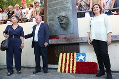 dg., 11/09/2016 - 11:01 - Ada Colau assisteix a l'acte d'homenatge al president xilè Salvador Allende