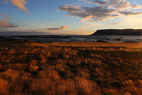 vatnsfjörður evening vestfirðir barðastrandarsýsla westfjords iceland september 2016 autumn fall grass sunset clouds landscape dusk platinumheartaward
