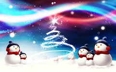[Free Images] Graphics, Illustration / CG, Events, Christmas, Snowman ID:201212111800