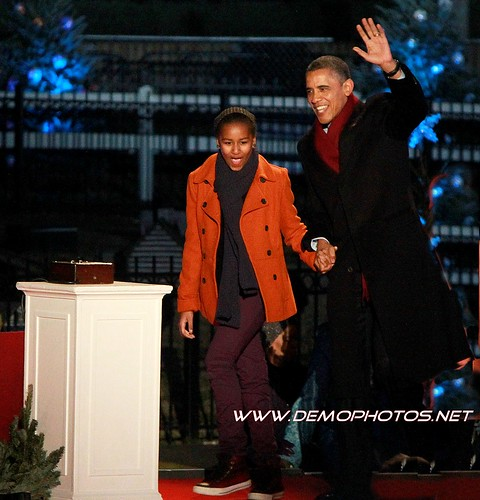 President Obama's Christmas Tree Lighting by DEMO PHOTOS by DeMond Younger