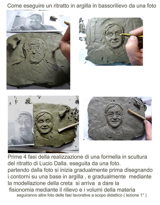 lezione 1 eseguire un ritratto in bassorilievo