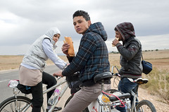 A group of activists biked over 1,000 kilometres to spread the word of the WSF in towns and cities across Tunisia. Credit: Aurélie Lecarpentier/IPS