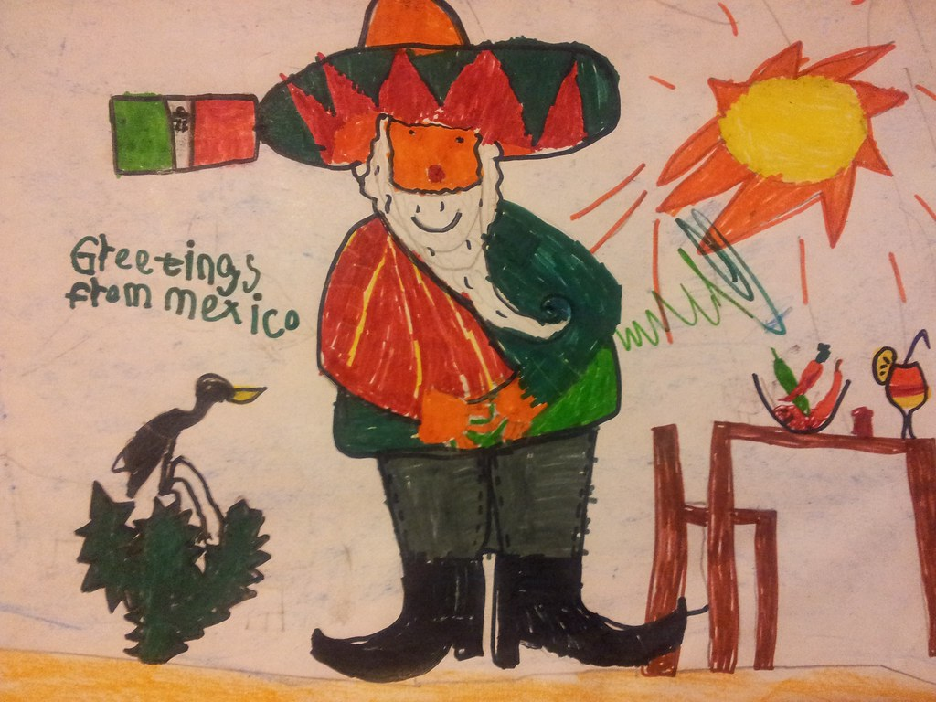 , Postcards from Santa in Mexico!  Danny's entry!